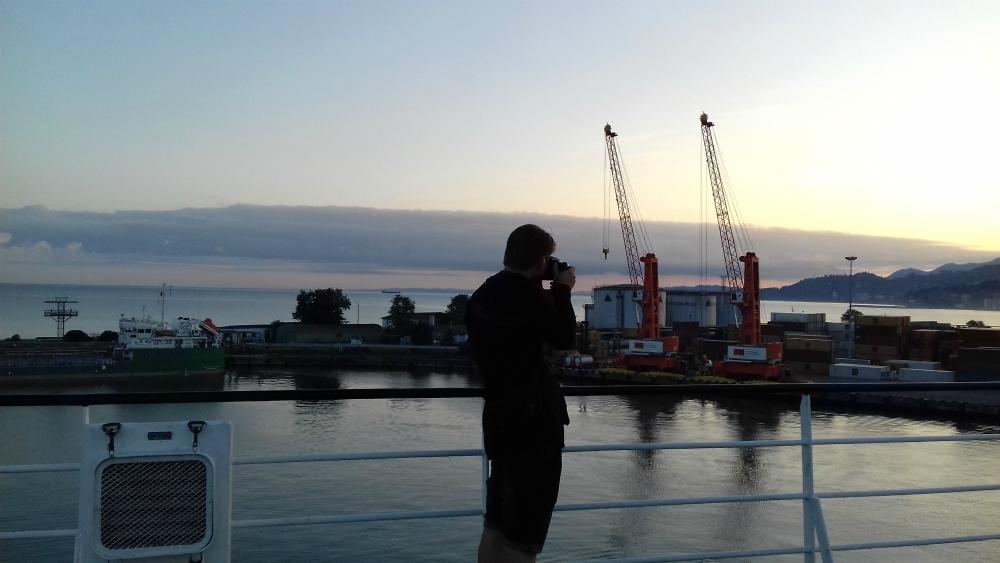 Prom cargo Greifswald. Rejs z Czarnomorska do Batumi w Gruzji. Morze Czarne