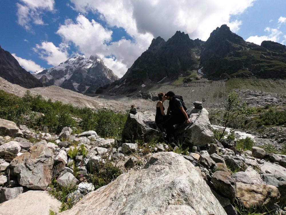 Gruzja Ushba Glacier trekking