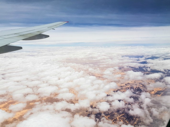 Algieria Sahara Austrian Airlines lot do Cape Town w RPA